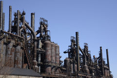 Old Bethlehem steel factory in Pennsylvania. The old Bethlehem Steel factory in Bethlehem, Pennsylvania. At one time it was the second largest steel stock photography