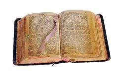 The old bible Royalty Free Stock Photo