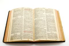 Old Bible. An old isolated Holy Bible Stock Photography