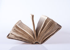 Old bible. A very old bilble sitting on white background Royalty Free Stock Photo