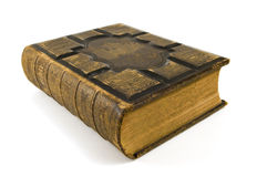 Old Bible. Large old bible on white background Royalty Free Stock Photography