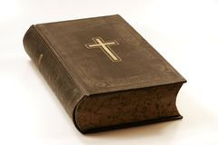 An old bible. A historical bible on a white backround royalty free stock photography
