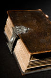 Old Bible on Black Royalty Free Stock Photography