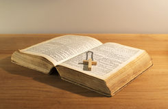Old bible book Stock Images