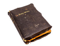 Old Bible. Old Christian Bible on a white background Stock Photo