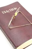 Old Bible and Glasses Stock Image