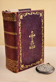 Old Bible and pocket watch Royalty Free Stock Photo