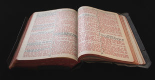 Old Bible with red text Stock Photos