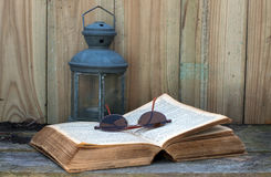 Old bible still life Stock Photo