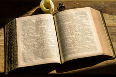 Old books holly bible Stock Photo