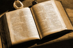 Old books holly bible Royalty Free Stock Images
