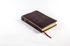 Old Bible on White Background Stock Image