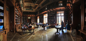 Old bibliotheque of Romanian University. Royalty Free Stock Image
