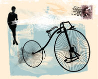 Old bicycle 1 Vector Illustration