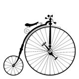 Old bicycle. Template with clean white background royalty free illustration