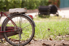 The old bicycle. The old bicycle in garden Thialand Stock Image