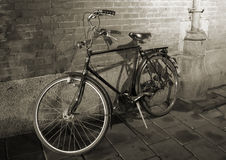 Old Bicycle. In Amsterdam, Holland, in black and white Stock Photography