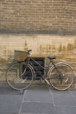 Old bicycle, Cambridge. An old bicycle on the street, close to Cambridge University Stock Image