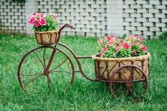 Old Bicycle Equipped di modello d'annata decorativo Fotografia Stock