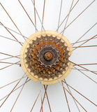 Old Bicycle gear, rusty metal cogwheel. Stock Images