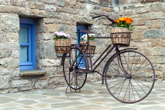 Old bicycle in Greece Stock Photography