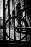 Old bicycle on historic italian square Stock Photography