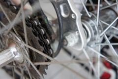 Old bicycle hubs and sprockets. Old vintage bicycle hubs and sprockets stock image