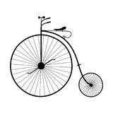 Old bicycle isolated - PNG. High quality illustration silhouette of an old bicycle with big wheel isolated on transparent background - graphic element for your Stock Image