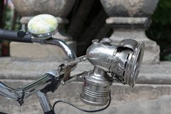 Old bicycle light Royalty Free Stock Image