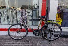 An old bicycle at old town in Dubai royalty free stock photography