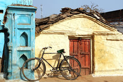 Old bicycle in Orcha, India Stock Image