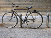 Old bicycle, parked with burglar. Royalty Free Stock Image