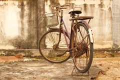 Old bicycle parked. Stock Photos