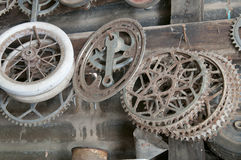 Old Bicycle Parts Royalty Free Stock Photography