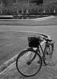 Old bicycle on the pavement. Stock Images