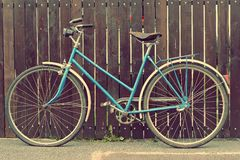 Old bicycle with a retro effect Stock Photo