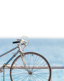 Old bicycle at sea side Royalty Free Stock Photo