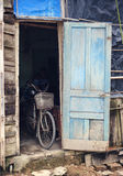 Old bicycle in a shed Stock Photography
