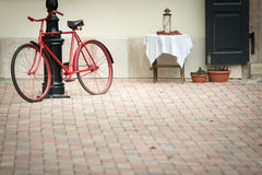 Old bicycle in stree of Budapest, Europe. Stock Photography