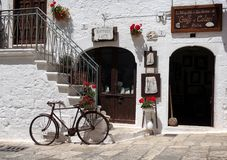 Old bicycle in a street scene in southern Italy Stock Photo