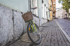 Old bicycle on the streets of Tallinn Stock Image