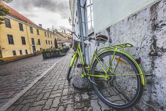 Old bicycle on the streets of Tallinn Stock Photos