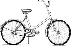 Old bicycle - vector eps8 Royalty Free Stock Photos