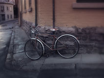 Old Bicycle in Vieux Quebec Stock Image