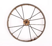 Old bicycle wheel Stock Images