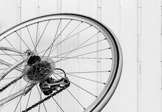 Old bicycle wheel Stock Photography