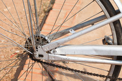 The old bicycle wheel Royalty Free Stock Photo