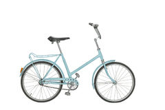 Old bicycle on white background Royalty Free Stock Photography