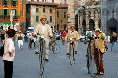 Old bicycles Stock Photos