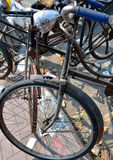 Old bicycles Royalty Free Stock Images